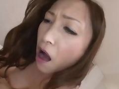 Japanese milf rides until that babe receives creampie