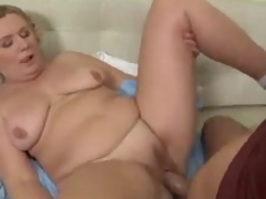 Bulky mature is a fiend for big cock