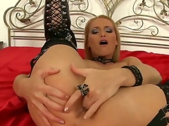 This glamorous blonde MILF can't live without coarse sex -- especially when shes getting it up the ass. And who more good to deliver painful anal than legendary porn star Nick Lang. Enjoy!
