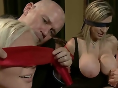 Experienced dominant mature dudes Mark Davis and Steve Holmes enjoy swapping their obedient golden-haired wives Sara Jay and Kait Snow with hawt bodies and enrmous stunning knockers
