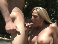 Blond MILF Sindy Lange is so much of a sex-frenzied cougar that this babe doesnt even mind hooking it up with her son-in-law. His big youthful cock makes her feel so alive!