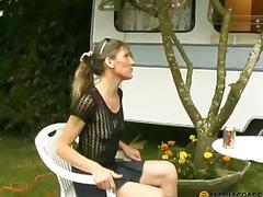 In a petite abode on wheels sucks ramrod