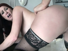 This MILF sucks like no other but sits down on that pecker like it's been also lengthy