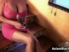 Sexy blonde slut gets horny sucking movie