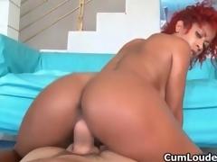 Hot ebony slut goes crazy sucking movie