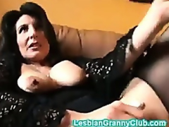 Randy granny brown masturbates with a indeed chunky dildo